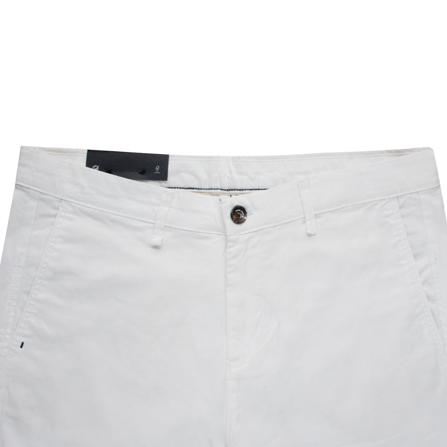 ZR Pure White Skinny Cotton Pants