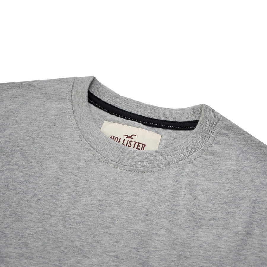 Hollister Long Sleeves Heather Grey Summer T-Shirt