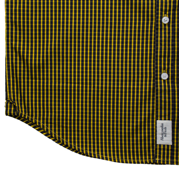 Abercrombie & Fitch Yellow Square Checkered Casual Shirt - Deeds.pk