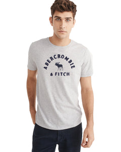 Abercrombie & Fitch Silver Marl Crew Neck T-Shirt - Deeds.pk