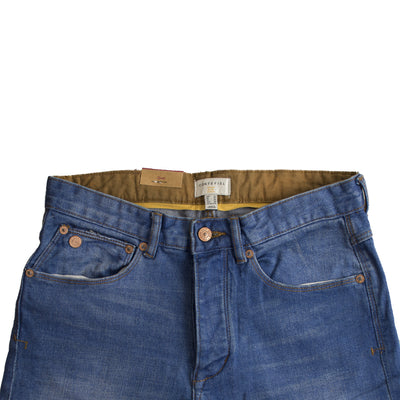 Cortefiel Sapphire Blue Straight Fit Denim - Deeds.pk