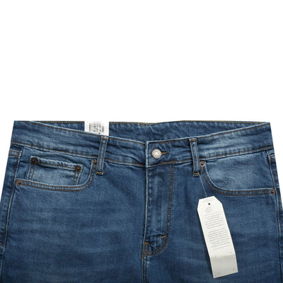 Faded Blue Slim Fit Classic Denim