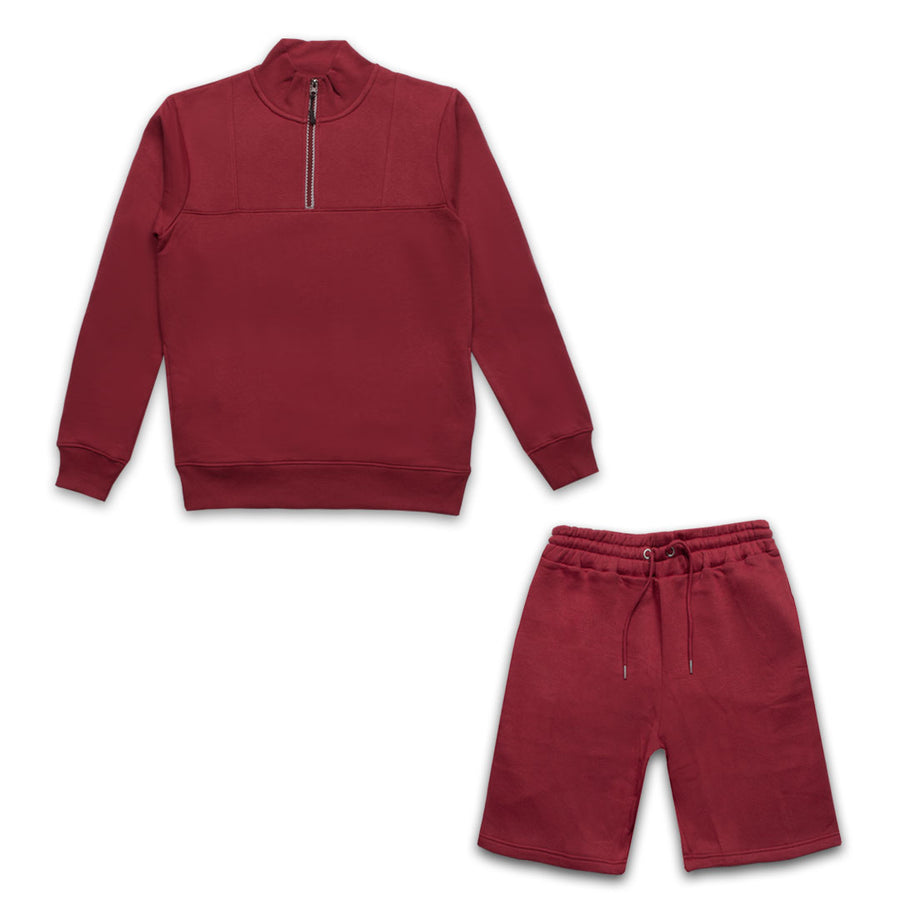 PARAGON RED TRACKSUIT WITH SHORTS