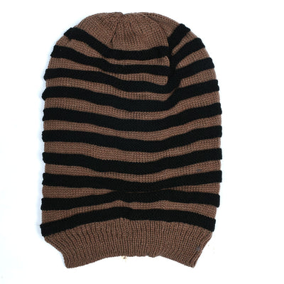 Color Split Fur Beanie