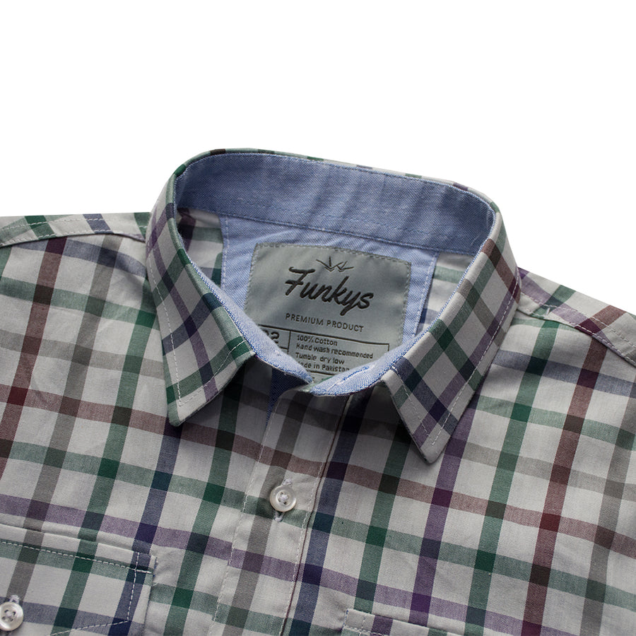 Funkys Boy's Multi Color Check Casual Shirt ( 3 YEARS TO 14 YEARS )
