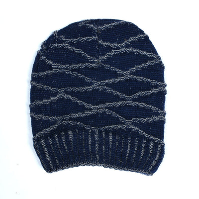 Diamond Pattern Fur  Beanie