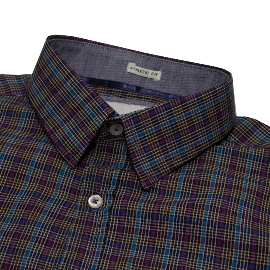 American Eagle Maroon and Blue Checkered Casual Shirt - Deeds.pk