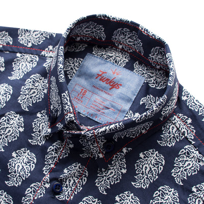 Funkys Boy's Leaf Print Casual Shirt - Deeds.pk