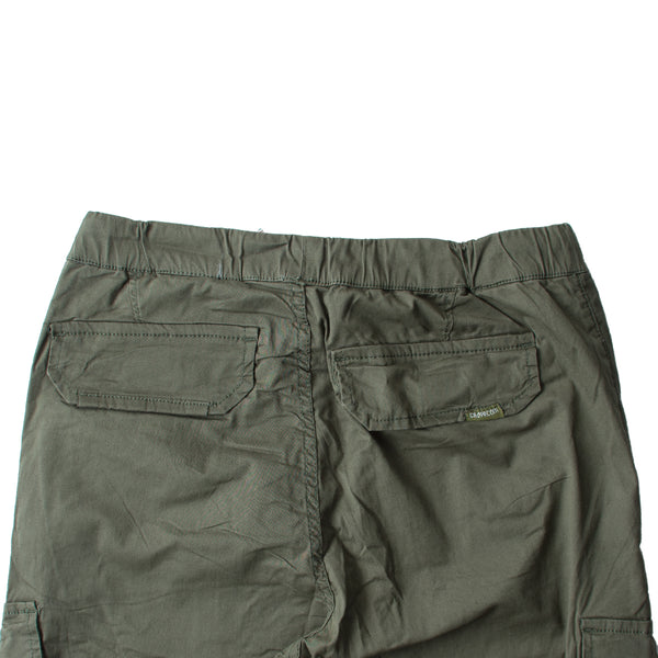 Cropp 6 Pockets Pure Cotton Dark Green Trouser - Deeds.pk