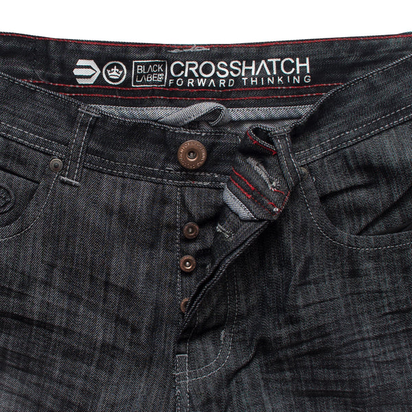 CROSSHATCH Charcoal Denim Shorts - Deeds.pk