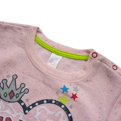 Baby Club Pink Self Textured Sweat Shirt ( 2 MONTHS TO 18 MONTHS ) - Deeds.pk
