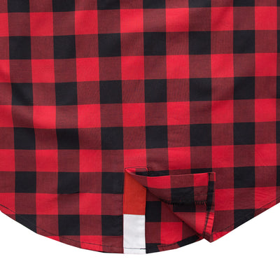 Funkys Mao Collar Square Check Casual Shirt