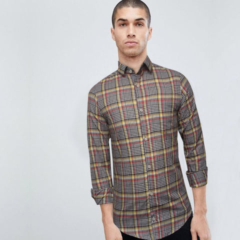 Funkys Multi Color Mircro Checkered Casual Shirts B-Quality