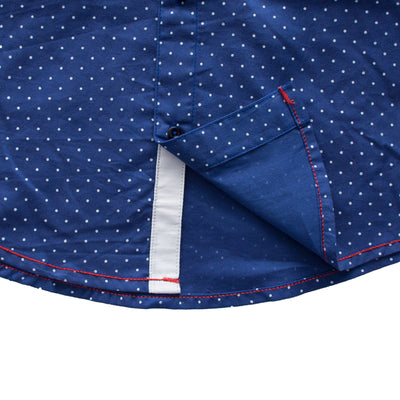Funkys Boy's White Polka Dots Casual Shirt - Deeds.pk