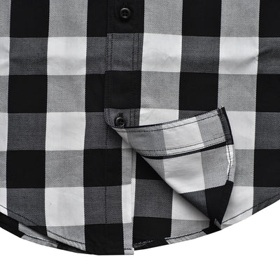 Burton Black and White Gingham Check Casual Shirt - Deeds.pk