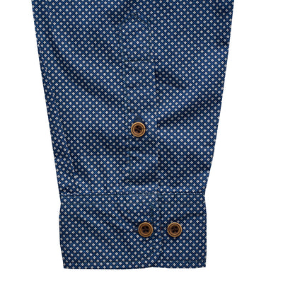 Fred Perry Blue Doted Casual Shirt - Deeds.pk