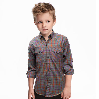 Funkys Boy's Multi Check Casual Shirt - Deeds.pk