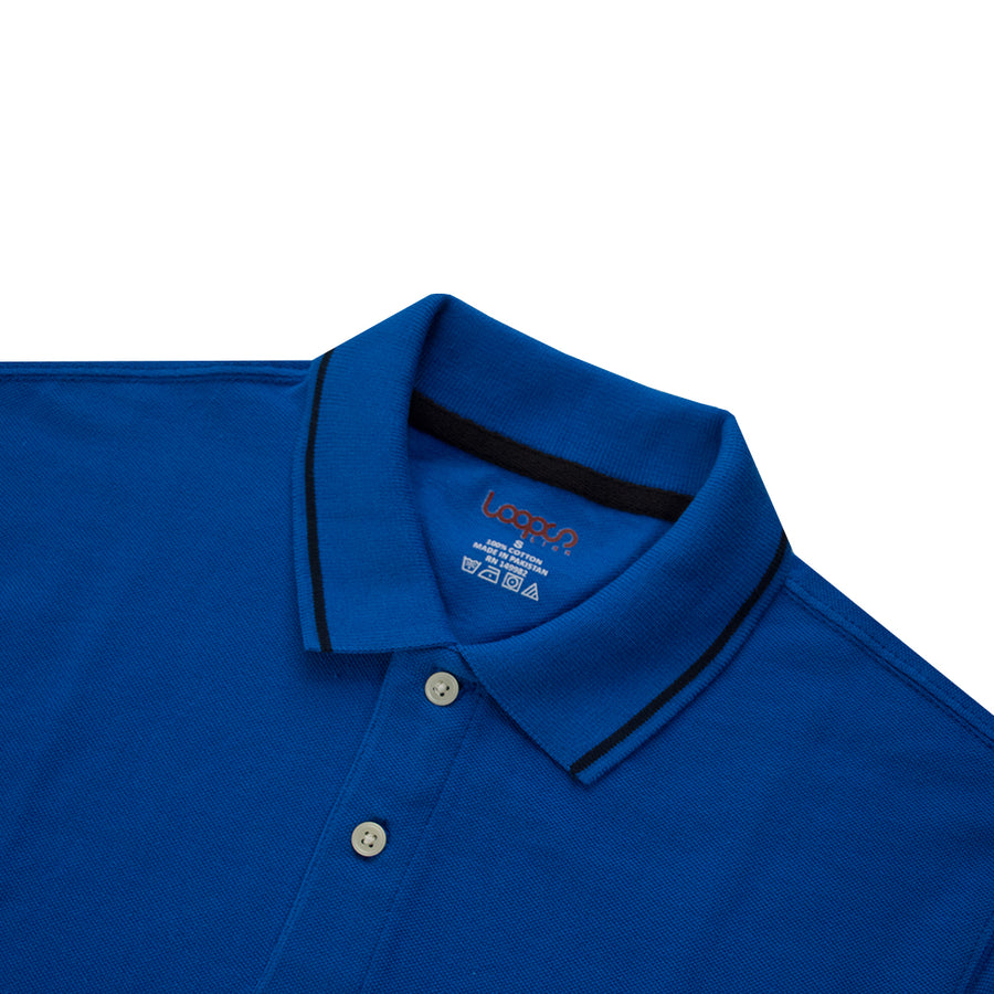 LPS Classic Tipped Collar Pique Polo Shirt