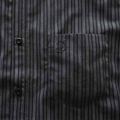 Datch Black with Grey Stripes Casual Shirt - Deeds.pk