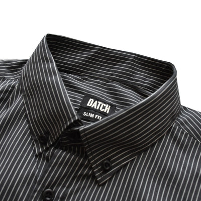 Datch Black With White Stripes Casual Shirt - Deeds.pk