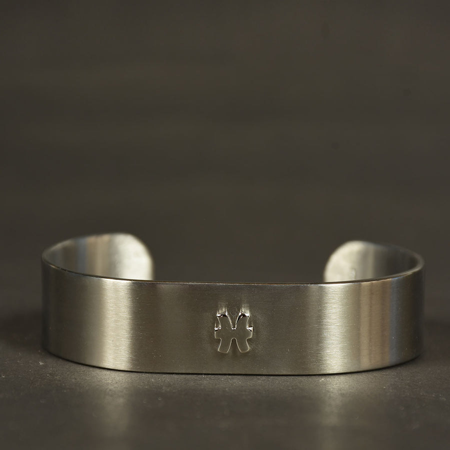 Men Stainless steel Zodiac superior design cuff bangle