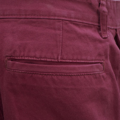 Topman Maroon  Slim Straight Fit Chino - Deeds.pk