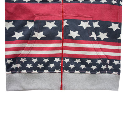 Funky's USA All Over Print Sleevless Hoodie