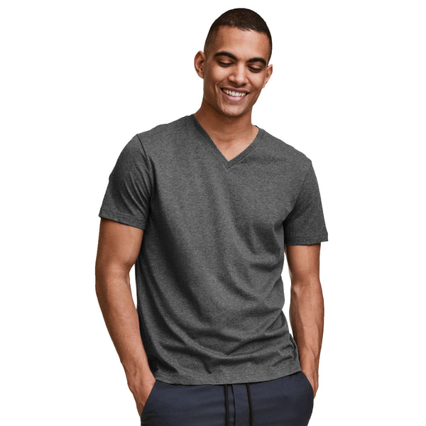 Funkys  V-Neck Charcoal T-Shirt