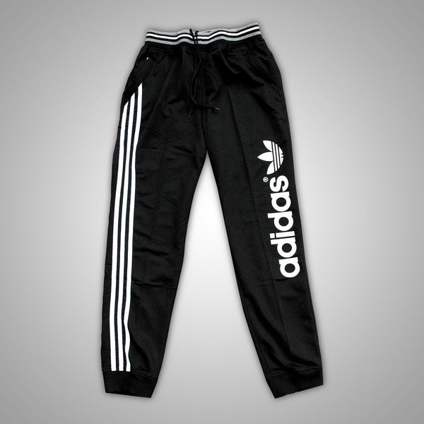 Adidas Black Super Relaxed Track Pants - Deeds.pk