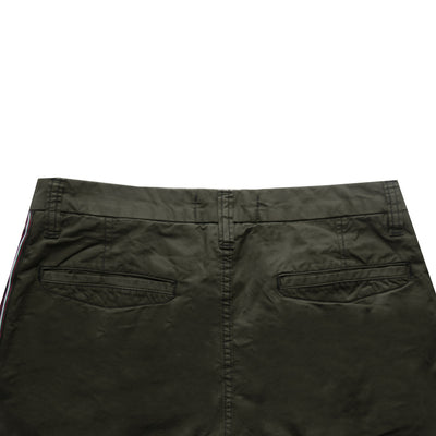 AL Smart Fit Cotton Side Stripes Dark Olive Shorts - Deeds.pk