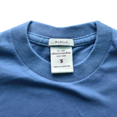 Kids Abercrombie Carolina Blue Plain T-Shirt - Deeds.pk