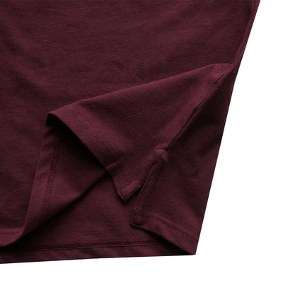 Classic Collar Dark Maroon Polo Shirt - Deeds.pk