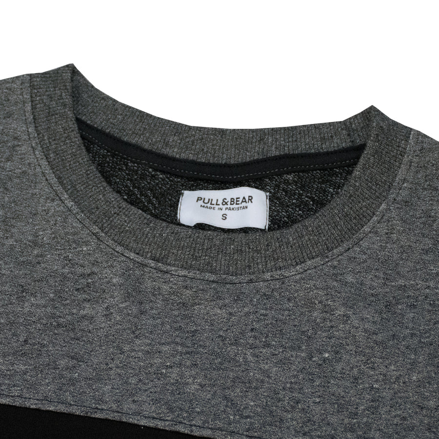 Pull&Bear Charcoal Panel Sweat Shirt
