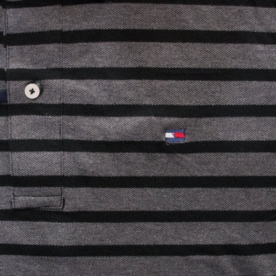 TH Black Striped Polo Shirt