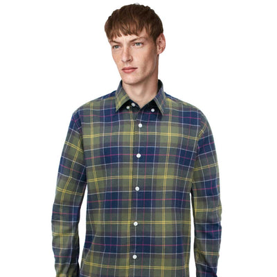 HNDM Flannel Vertical Checkered Long Sleeve Casual Shirt