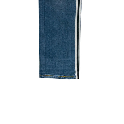 ASPTLE Denim Blue Side Striped Skinny Fit Denim - Deeds.pk