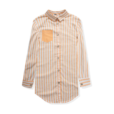 Orange Vertical Stripe Top - Deeds.pk