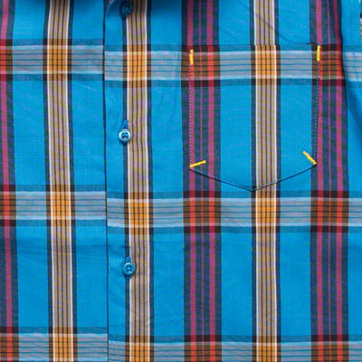 Funkys Boy's Blue Checkered Casual Shirt - Deeds.pk