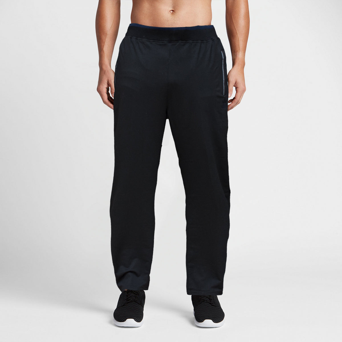 Adidas Black Navy Rib Trouser - Deeds.pk