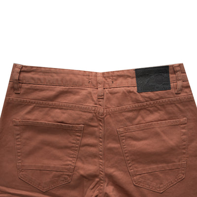 Carrot Red  Normal Rise Slim Shorts - Deeds.pk