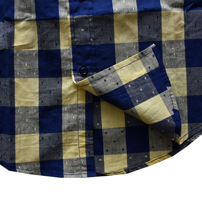 Old Navy Yellow and Navy Mingle Check Casual Shirt - Deeds.pk