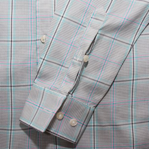 American Eagle Mint Green Checkered Casual Shirt - Deeds.pk