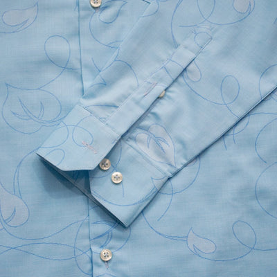 BRTN Leaf Print B-Quality Semi Formal Shirt - Deeds.pk