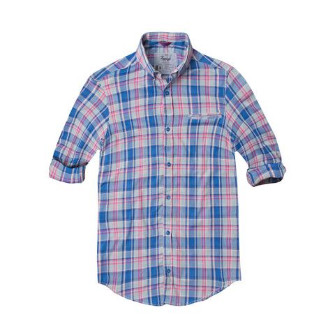 Funkys Blue Check Casual Shirt - Deeds.pk