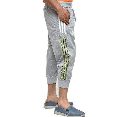 ADS Light Grey Camo Stripes Terry  Shorts - Deeds.pk