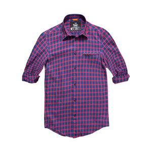 Funkys Red & Navy Check Casual Shirt - Deeds.pk