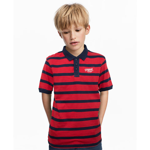 Mid Town Boy's Striped Polo Shirt
