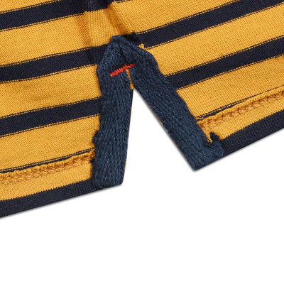 FUNKY'S HORIZONTAL STRIPES CONTRAST COLOR T-SHIRT