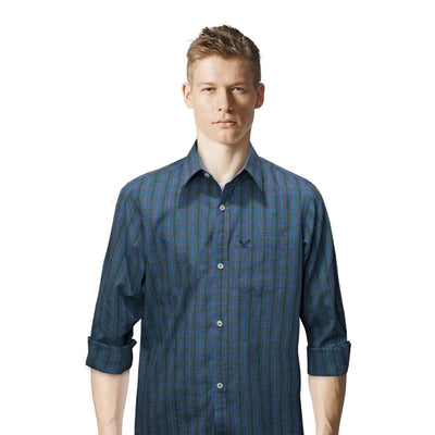 American Eagle Sea Green Checkered Casual Shirt - Deeds.pk