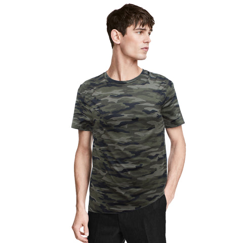 Pull & Bear All Over Camo Print T-Shirt